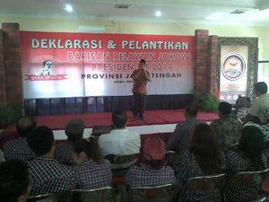 \Jokowi Oke! RI 1 Yes!\, Teriakan di Deklarasi Relawan Jokowi
