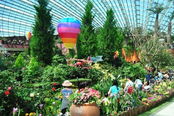 Flower Dome, Taman Bunga Futuristis di Singapura