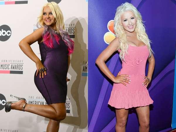 Wow, Langsingnya Tubuh Christina Aguilera