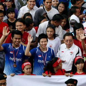 Tontowi & Para Juara Dunia Diarak, Sarinah pun Meriah