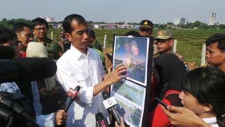 Jokowi Akan Jadikan Waduk Ria Rio Hutan Kota dan Pengendali Banjir
