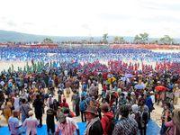 Tarian kolosal ini masuk dalam rekor Muri karena memiliki jumlah penari terbanyak di Indonesia dalam sebuah acara (Shafa/detikTravel)