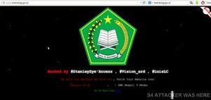 Situs Resmi Kementerian Agama Diretas