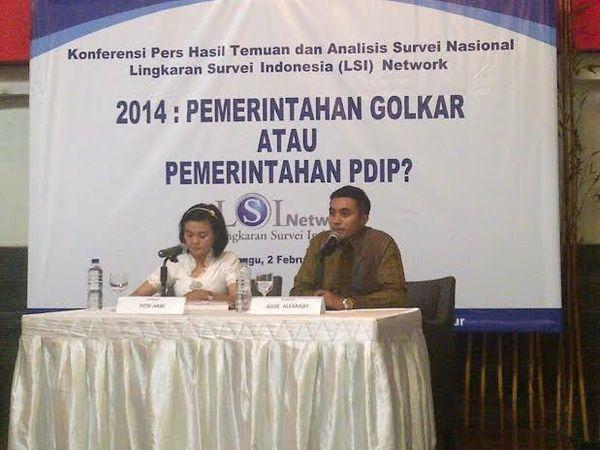 Survei LSI Denny JA: Golkar dan PDIP akan Bertarung di Pemilu 2014