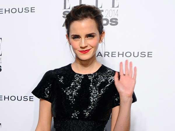 Dress Unik Emma Watson di Elle Style Awards 2014