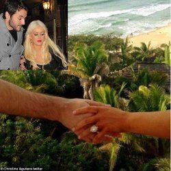Indahnya Cincin Tunangan Christina Aguilera