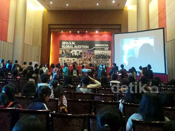 Suasana Audisi SM Entertainment di Jakarta Hari Pertama