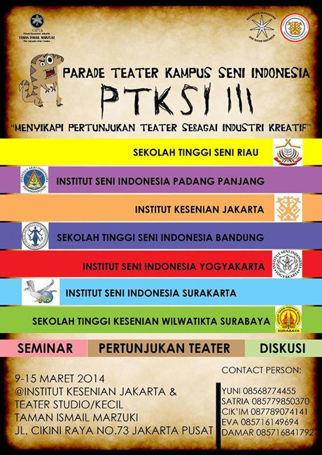 Parade Teater Kampus Seni Indonesia Digelar Sepekan
