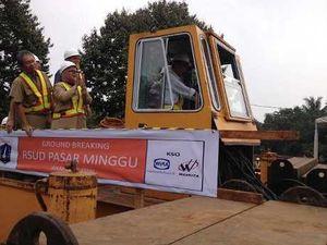 Jokowi Letakkan Batu Pertama Pembangunan RSUD Pasar Minggu