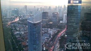 Beginilah Kondisi Kemacetan Jl Sudirman Dilihat dari Lantai 45
