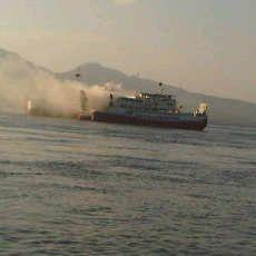 KMP Reny II Terbakar di Selat Bali, 50 Penumpang Selamat