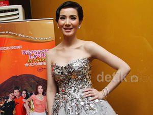 Jill Gladys Cantik di Premiere Diaspora Cinta di Taipei