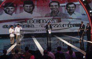 Survei PDB: Prabowo-Hatta 40,6%, Jokowi-JK 32,3%