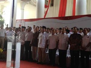 Tanpa Hatta, Prabowo Sampaikan Pernyataan Sikap di Rumah Polonia