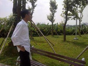 Blusukan ke Waduk Ria Rio, Jokowi: Pohonnya Gemuk Senang Saya