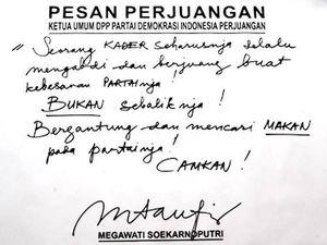 Pesan Perjuangan Megawati: Jangan Mencari Makan dari Partai!