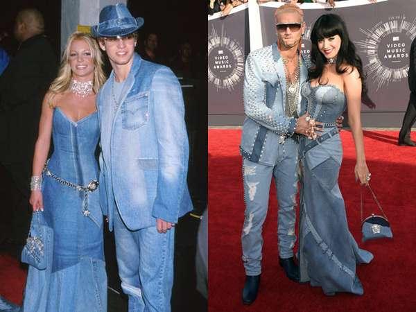 Siapa Lebih Keren, Katy Perry-Riff Raff atau Britney-Justin?