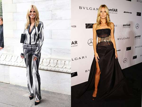 Penampilan Heidi Klum di Milan Fashion Week