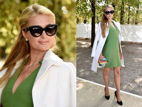 Simple dan Cantik ala Paris Hilton di Paris Fashion Week
