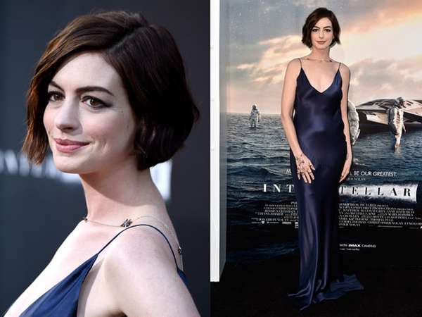 Anne Hathaway Seksi dan Elegan