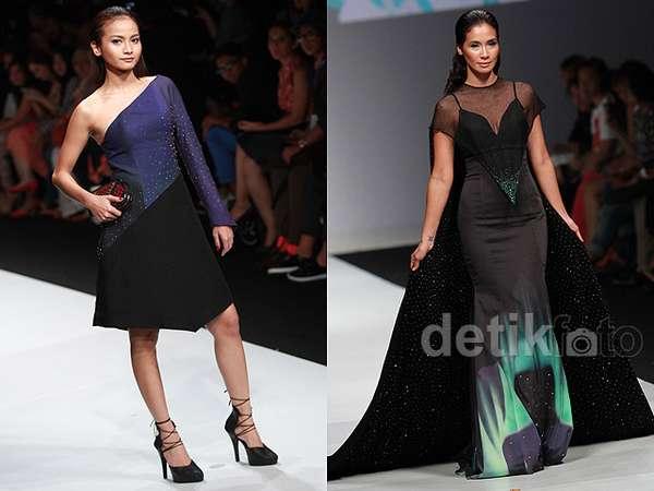 Aksi Acha Septriasa dan Marsha Timothy di Jakarta Fashion Week