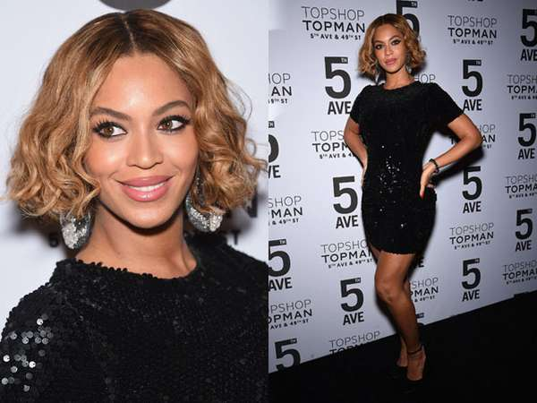 Gaya Simple Beyonce dengan Dress Mini Hitam