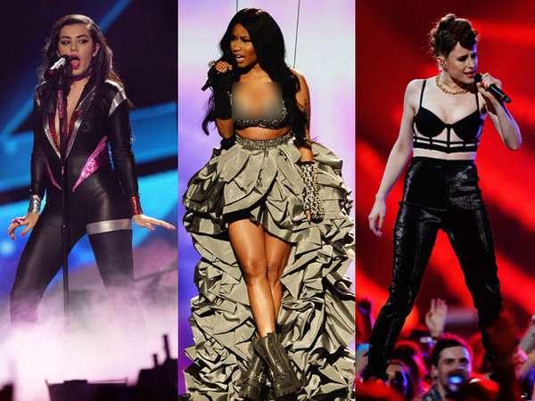 Aksi Para Musisi di Panggung MTV EMA 2014