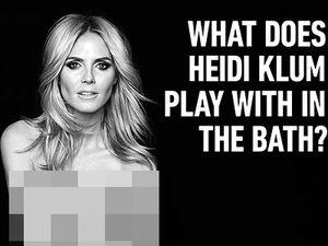 Heidi Klum Foto Bugil untuk Iklan Produk Inovatif