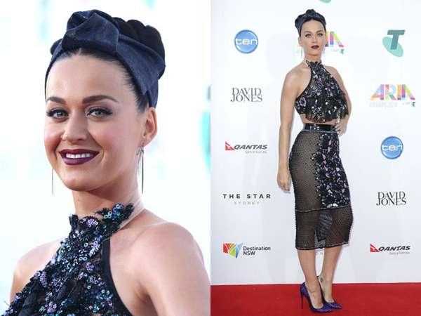 Katy Perry Seksi dengan Rok Menerawang di ARIA Awards 2014