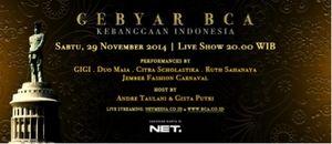 Gebyar BCA : Kebanggaan Indonesia Live dari Monumen Jalasveva Jayamahe, Surabaya