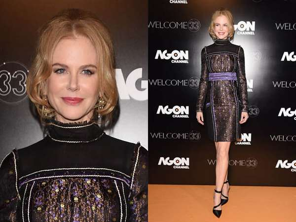 Nicole Kidman Elegan Dibalut Dress Prada