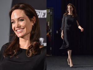 Wajah Sumringah Angelina Jolie