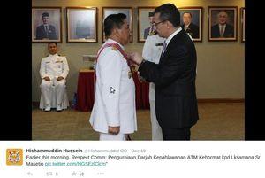 KSAL Marsetio Dianugerahi Penghargaan oleh Menhan Malaysia