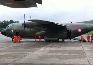 5 Pesawat Hercules TNI AU yang Akan Jemput TKI Ilegal Tiba di Malaysia