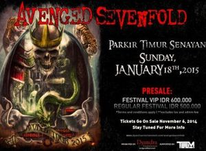 Jelang Konser Avenged Sevenfold di Jakarta, M Shadows Sapa Penggemar