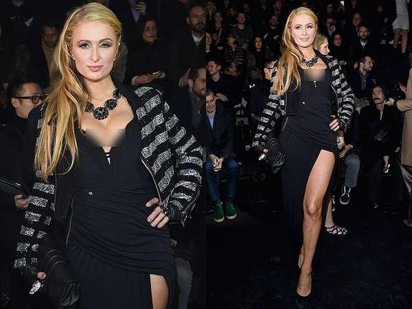 Paris Hilton Pamer Belahan Dada