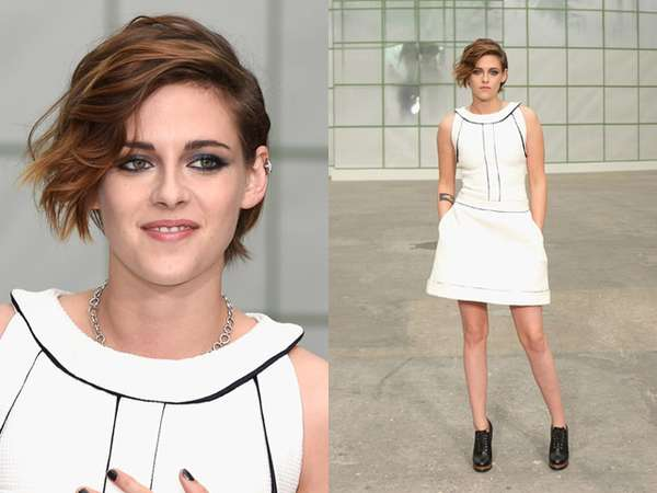 Gaya Chic Kristen Stewart di Paris Fashion Week