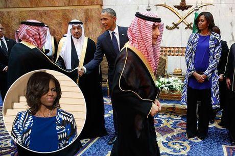 Tidak Tutup Aurat, Gambar Michelle Obama Kena 'Sensor' TV Arab Saudi