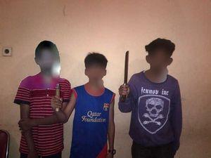 Penampakan 3 Pembacok Siswa SMP di Pondok Labu yang Diringkus Polisi