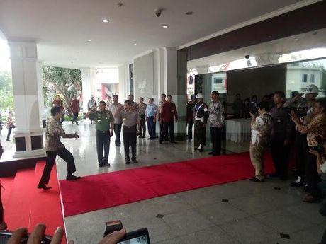 Presiden Jokowi Hadiri Rapim TNI-Polri di PTIK