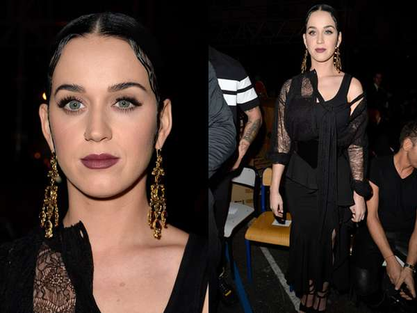 Katy Perry Tampil Gotik di Paris Fashion Week