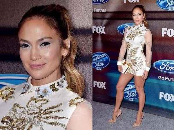 Dibalut Dress Supermini, Jennifer Lopez Pamer Kaki Jenjang