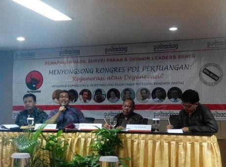 Survei Pakar Poltracking: Jokowi Caketum PDIP Paling Potensial, Mega Urutan 7