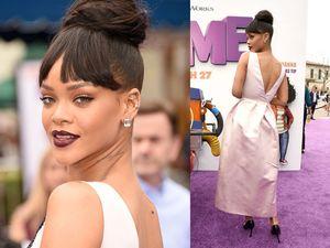 Rihanna Pamer Punggung di Premiere 'Home'