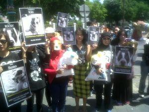 Pecinta Hewan di Jogja Demo Tolak Tongseng Asu