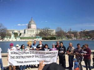 Dari Capitol Hill, WNI Kirim Pesan Tolak Reklamasi Teluk Benoa