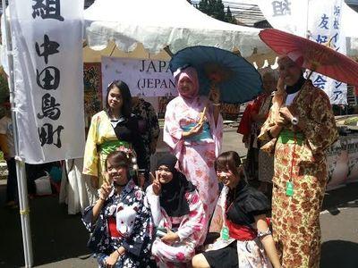 Gadis Kimono & Aneka Keseruan di Festival of Nation, Bandung