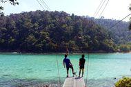 Wush! Meluncur dengan Flying Fox Antarpulau di Kinabalu