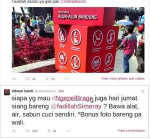 Deal dengan Ridwan Kamil, 2 Perusak Taman KAA Ngepel Jl Braga Jumat Besok