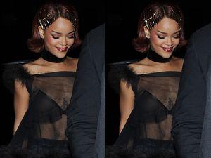 Rihanna Ekspos Payudara di After Party Met Gala 2015